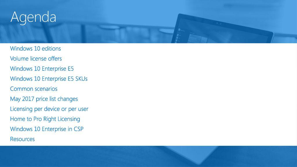 Windows 10 Volume Licensing L300 To Partner - ppt download