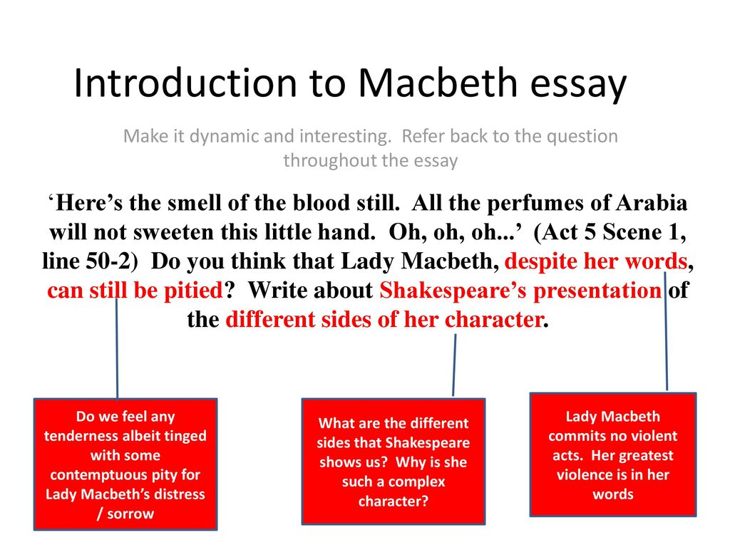 English Learning Essay Introduction To Macbeth Essay Persuasive Essay Thesis Statement also Friendship Essay In English Introduction To Macbeth Essay  Ppt Download Proposal Essay Topics