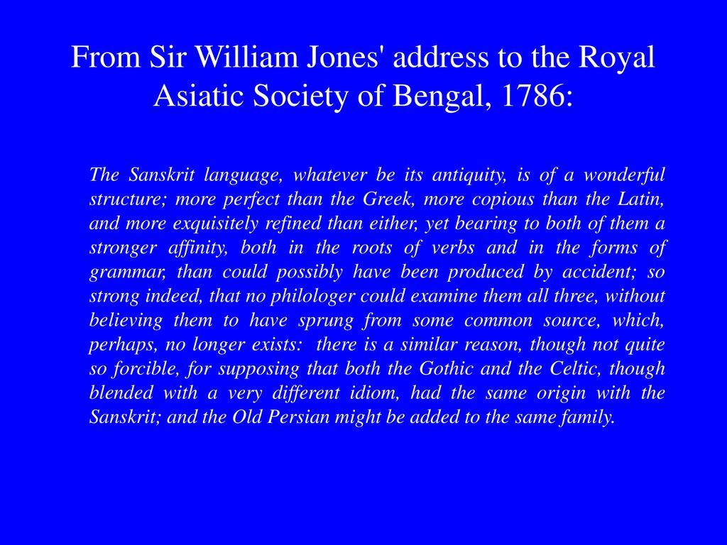 sir william jones asiatic society
