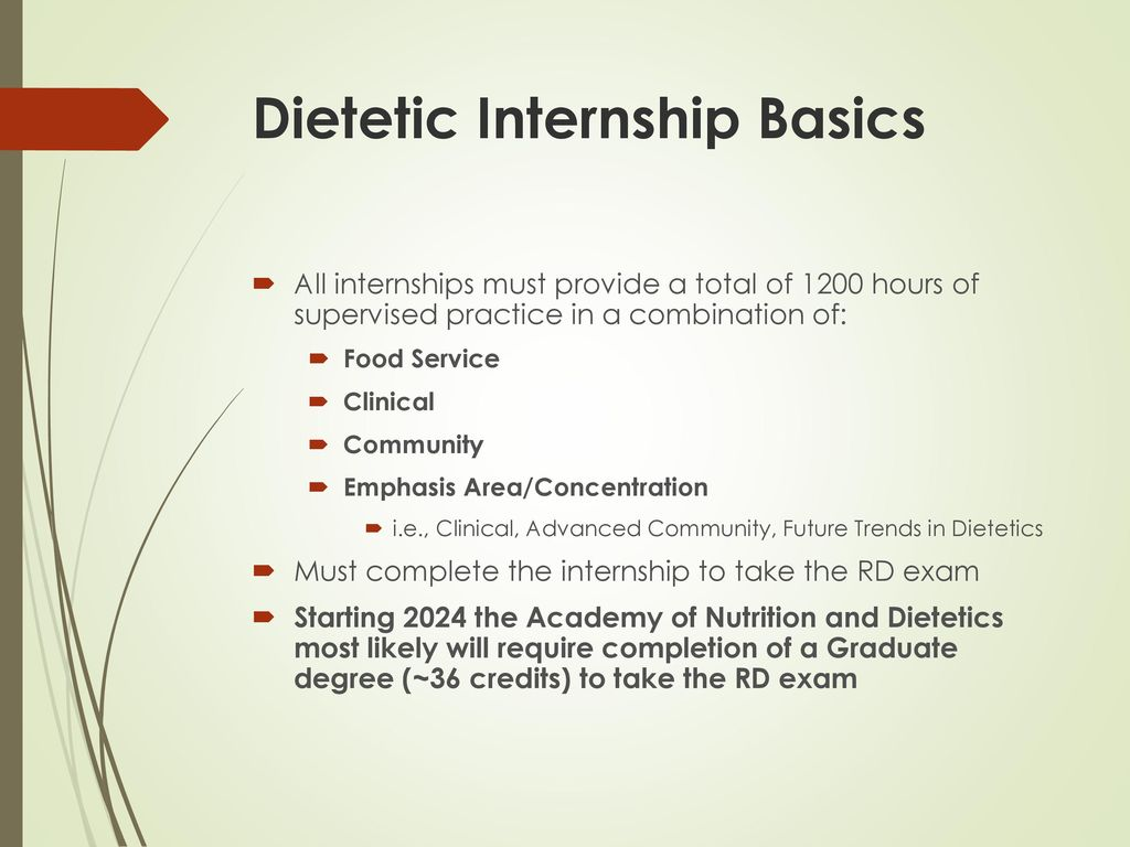 Dietetic Internships Accreditation Council for Education in
