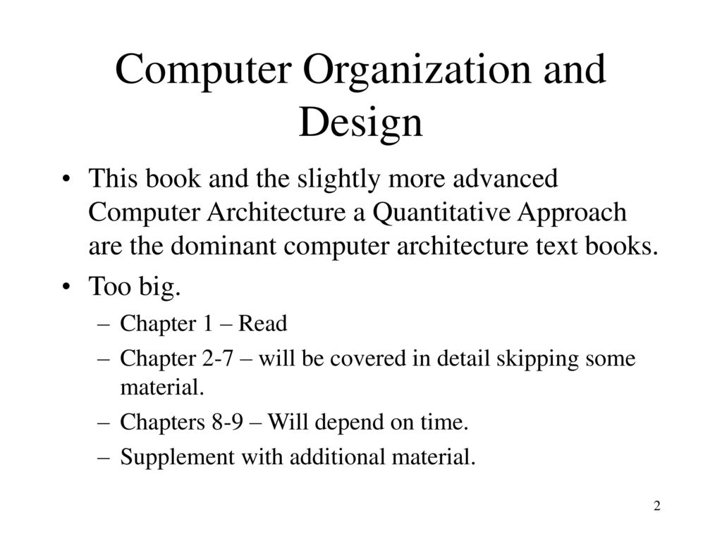 Computer Organization And Design Book