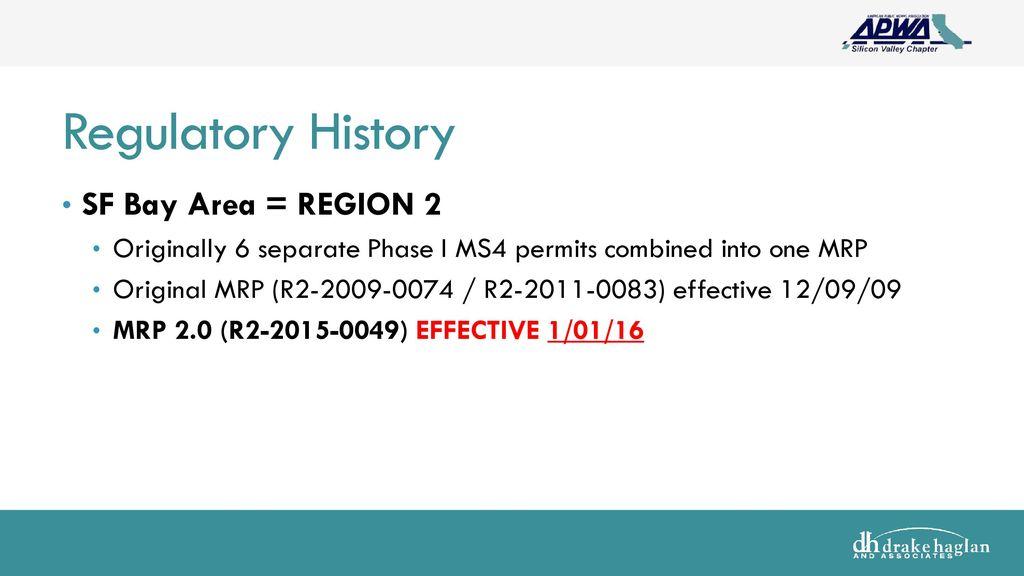 The new sf bay area municipal regional permit (mrp 2 0