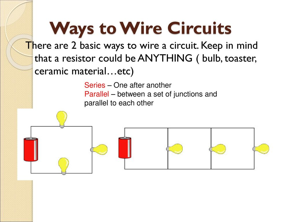 Electric Circuits Ap Physics B Ppt Download Series And Parallel Wiring Ways To Wire