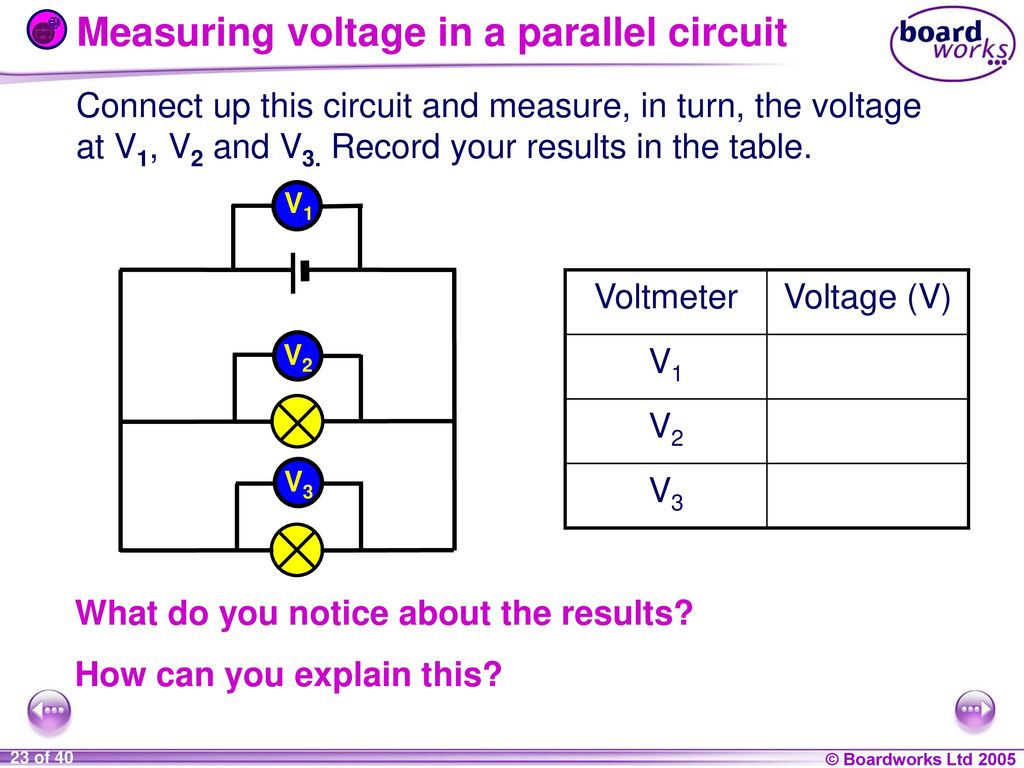 9i Energy And Electricity Ppt Download Voltage In A Parallel Circuit Measuring