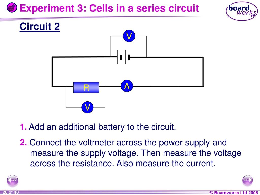 9i Energy And Electricity Ppt Download Measurements In Electric Circuits Experiment 3 Cells A Series Circuit