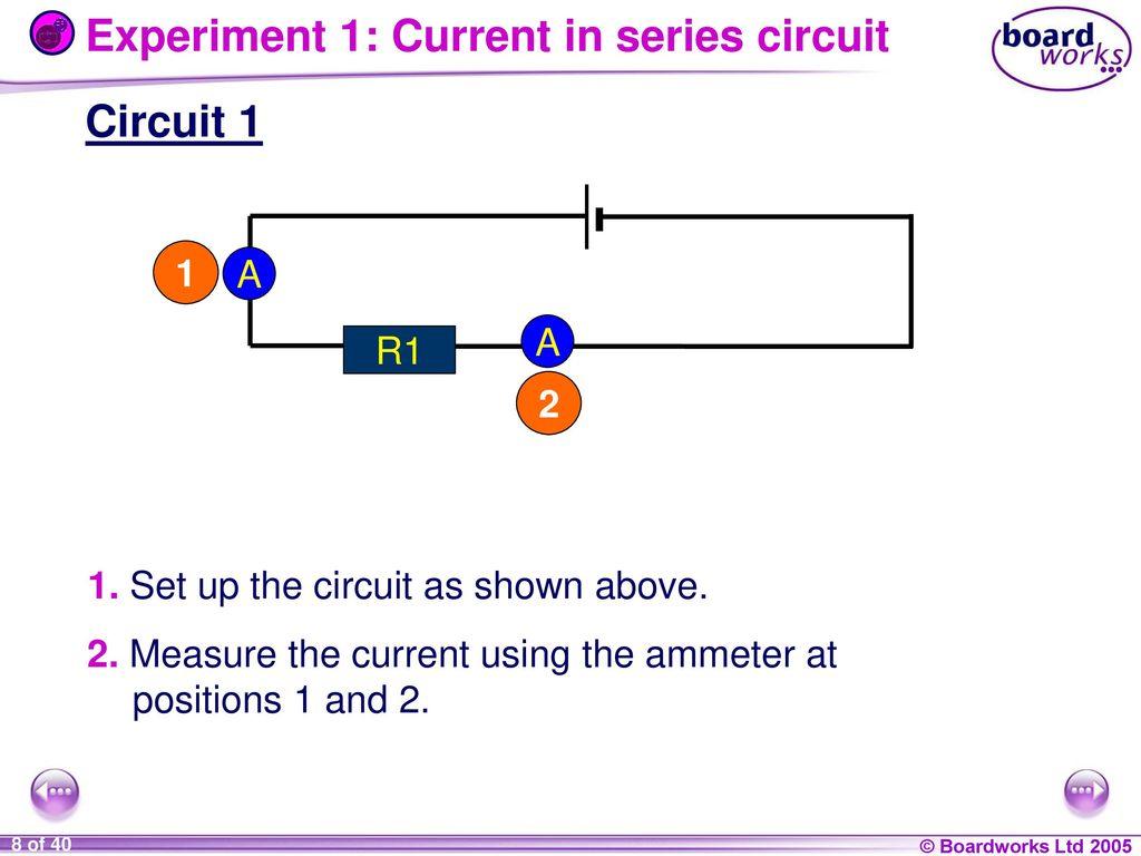 9i Energy And Electricity Ppt Download Current Series Circuit Experiment 1 In