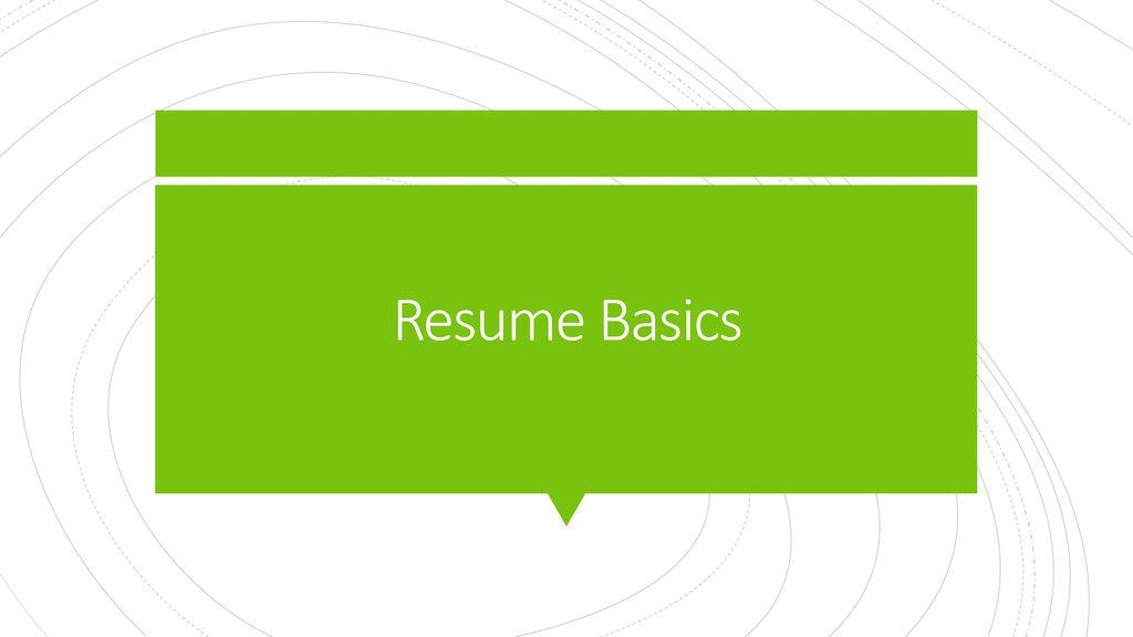 resume basics ppt download