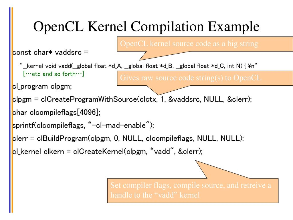 Objective To Understand the OpenCL programming model - ppt