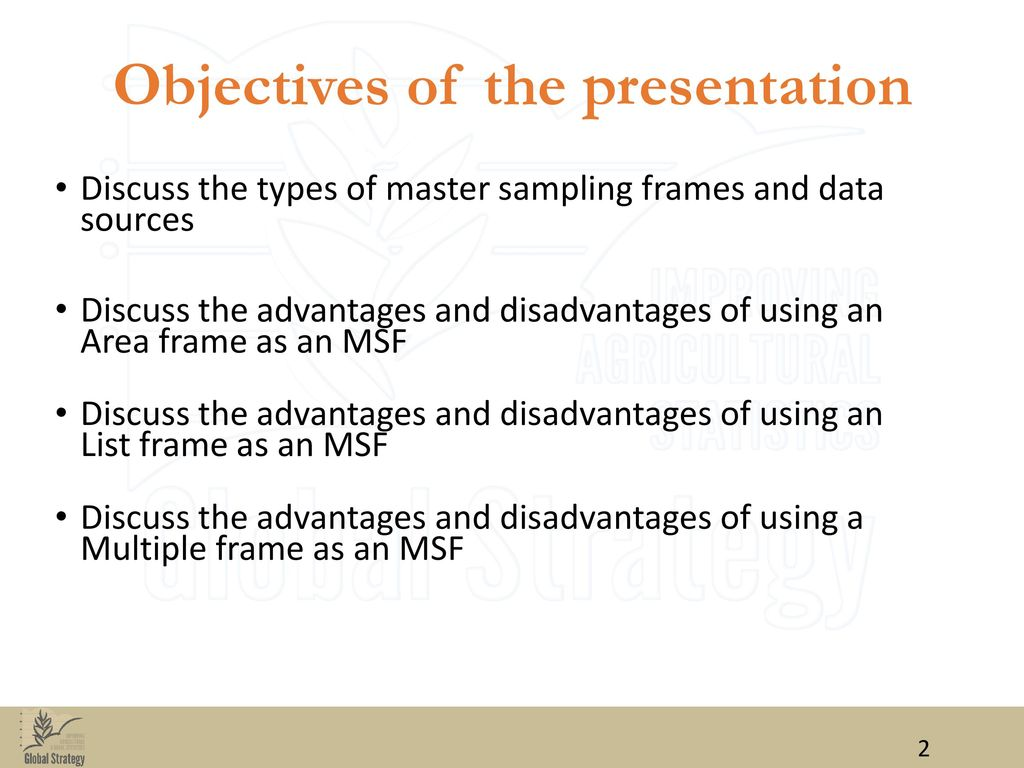 master sampling frame msf agricultural statistics ppt download