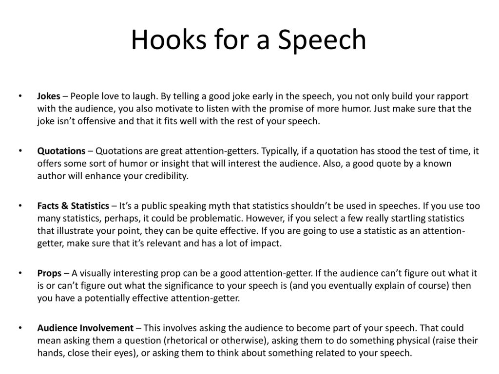 what to do for a speech