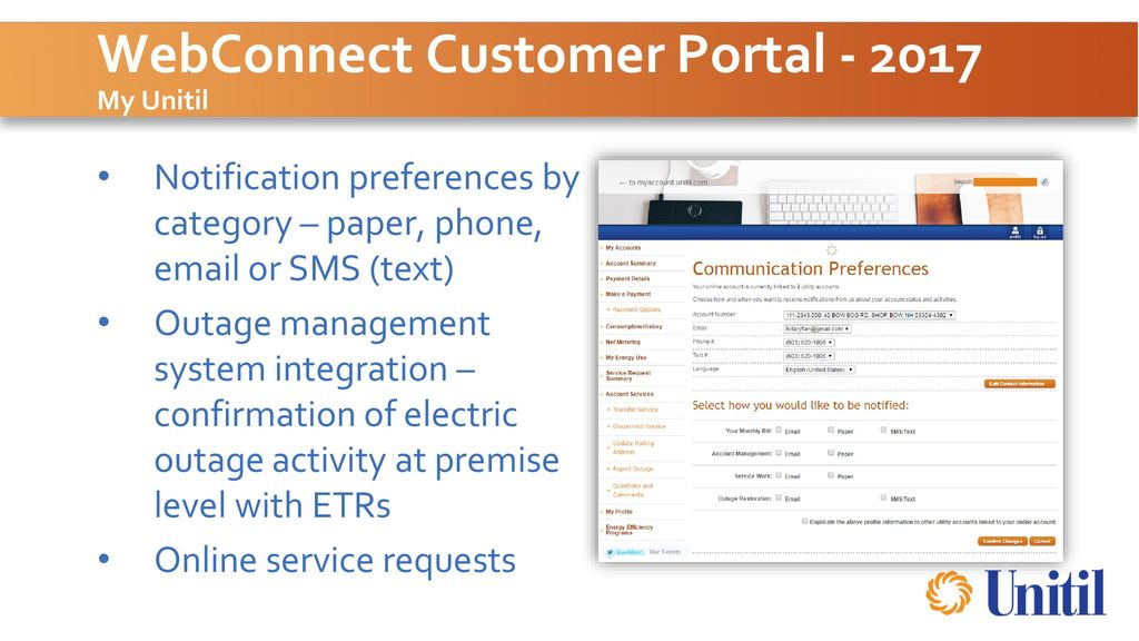 Unitil Customer Facing Technology Ppt Download