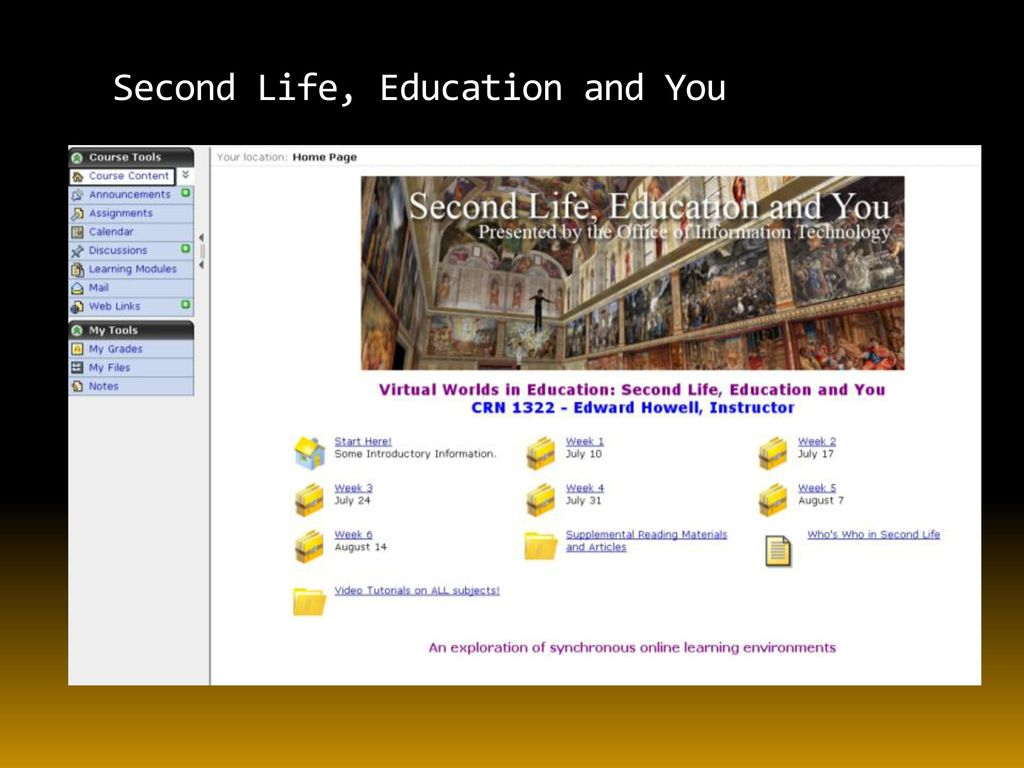 A Second Life Training Course for Faculty and Staff - ppt download