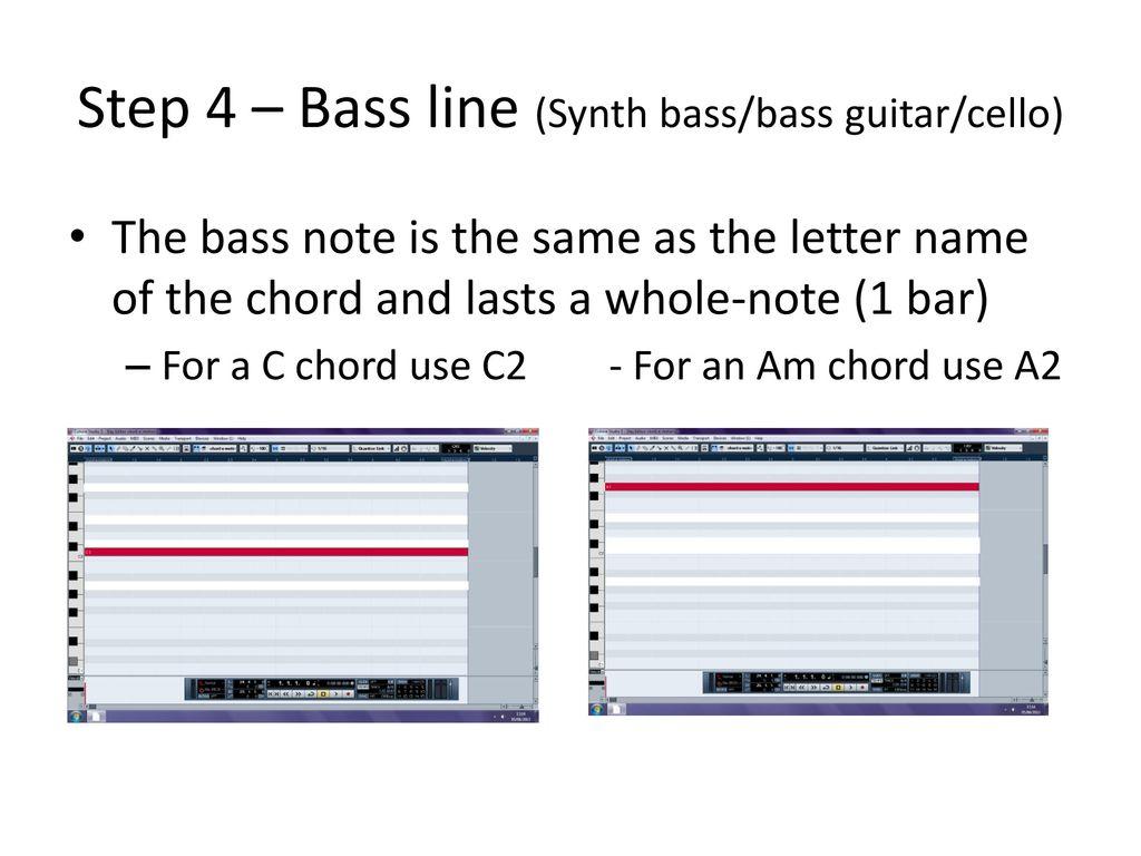 Step 1 Bar 1 Synth Padpianoguitar Ppt Download