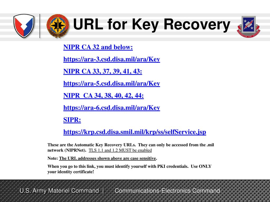 Dod Pki Automatic Key Recovery Ppt Download