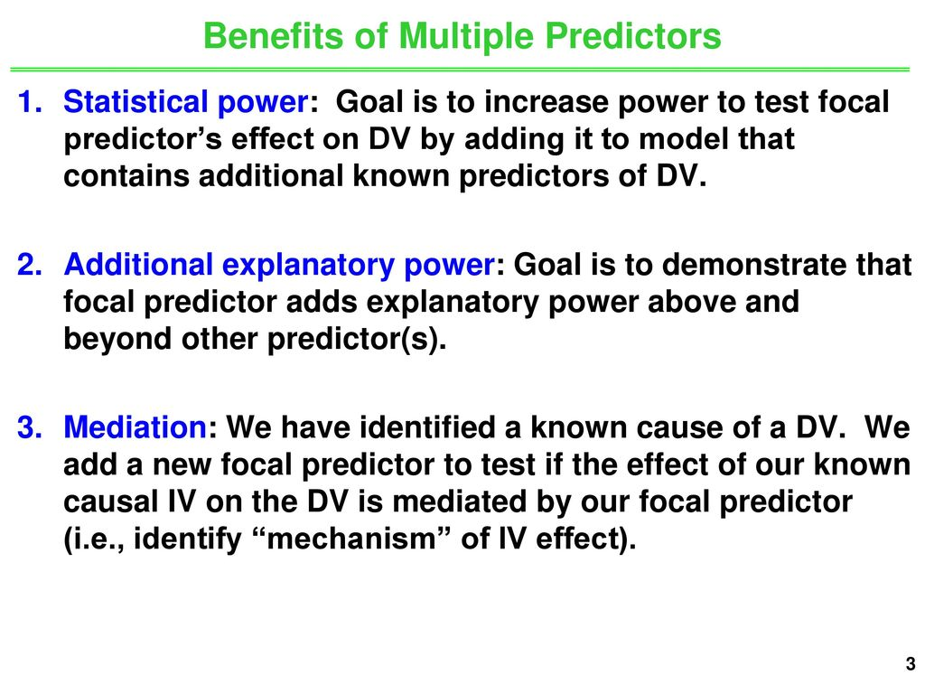 Unit 6: Inferences with 2 Predictors - ppt download