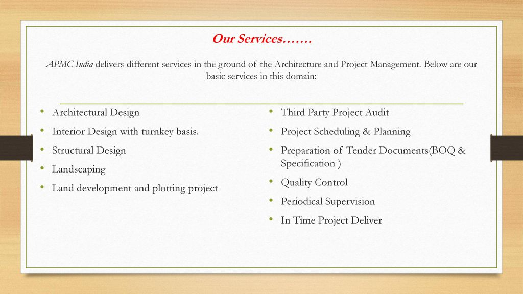 Architecture Interior And Project Management Consultant Ppt Download