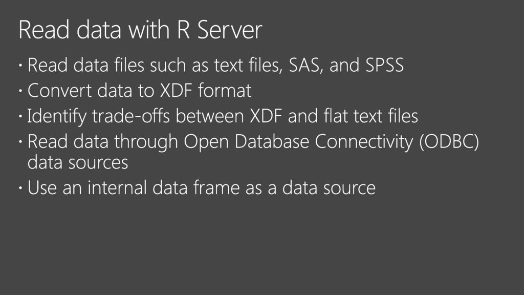 Analyzing Big Data with Microsoft R - ppt download