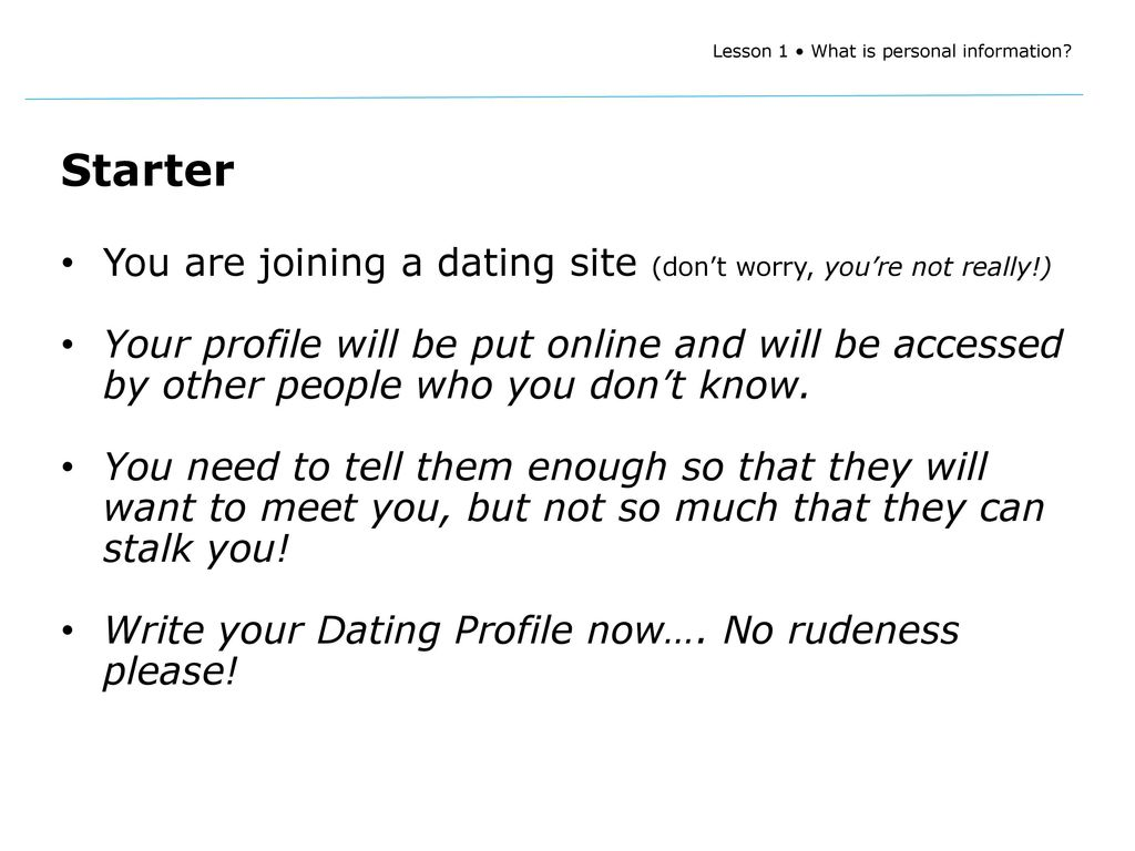 How to write your profile on a dating website