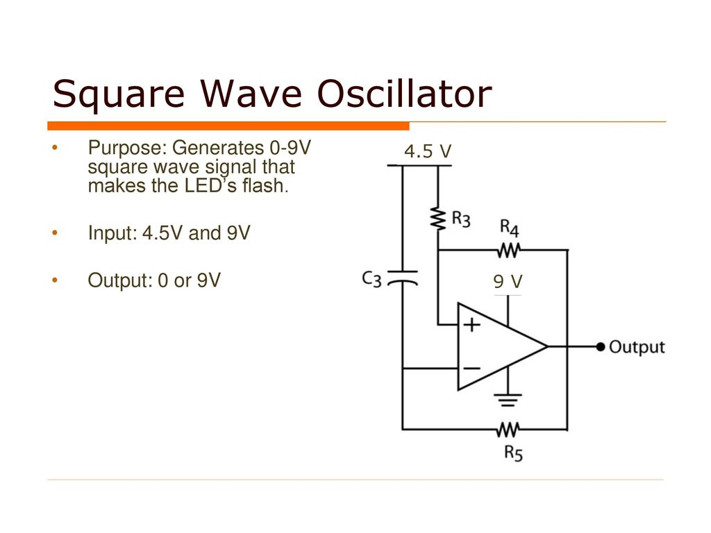 Light Detection Circuit Ppt Download Lightning Detector Diagram 4 Square Wave Oscillator