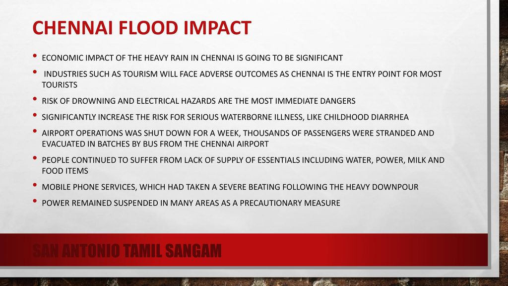 Natural disaster in Chennai - ppt download