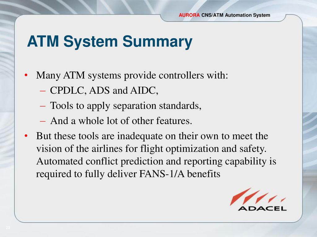 New Automation System Delivers FANS-1/A Benefits - ppt download