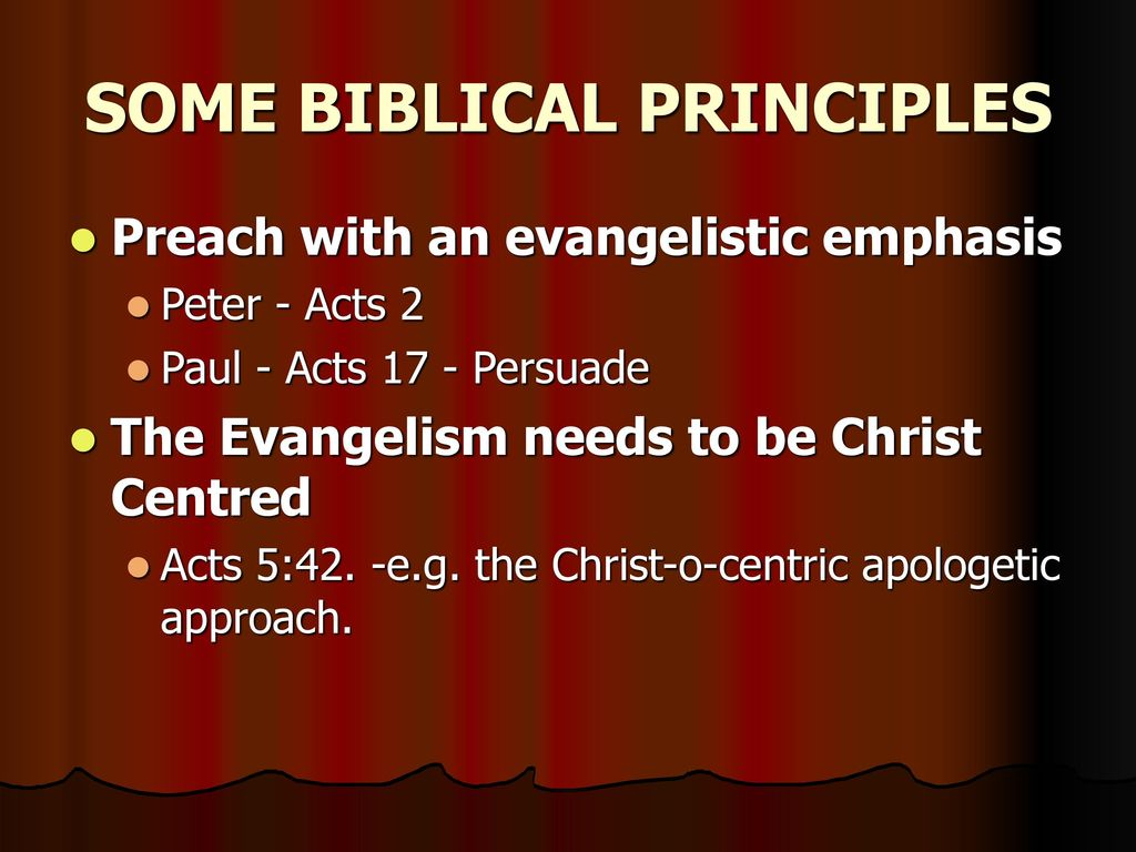 what are some biblical principles