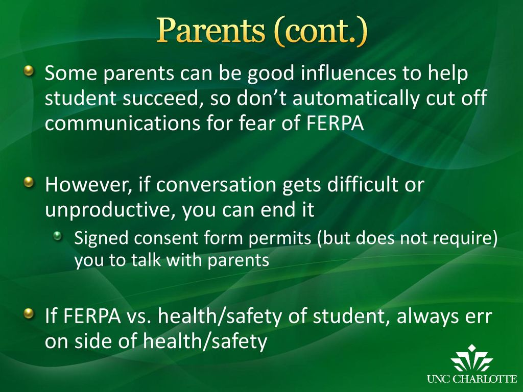 ferpa form uncc  Family Educational Rights and Privacy Act (FERPA) Jesh ...