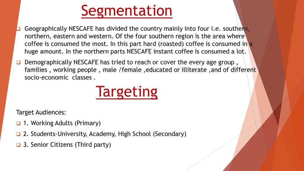 nescafe segmentation