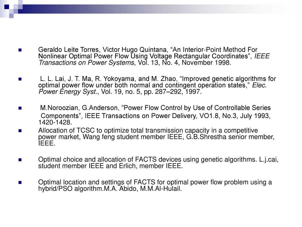 Optimal Power Flow With Tcsc Using Genetic Algorithm Ppt Download Yokoyama Control Transformer Wiring Diagram 45 Geraldo