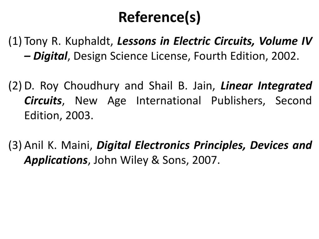 Data Converters Linear Circuits Ssenthil Kumar Dept Of Aero Lessons In Electrical Circuit References Tony R Kuphaldt Electric Volume Iv