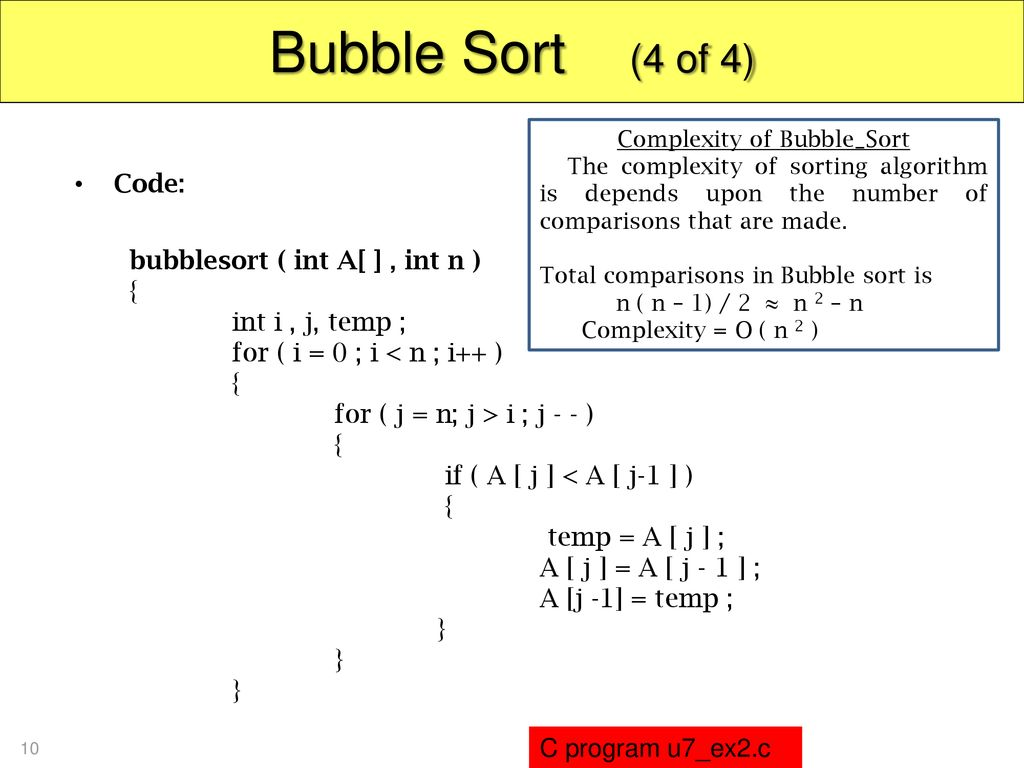 Complexity of Bubble_Sort