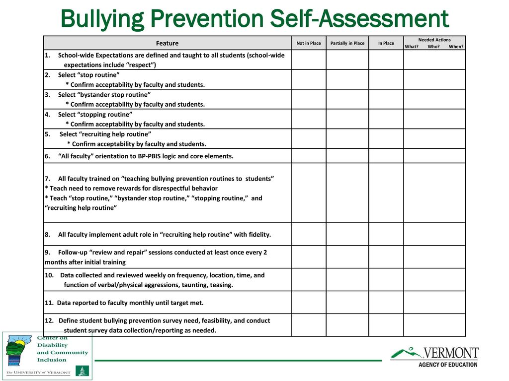 embedding bully prevention in core curriculum