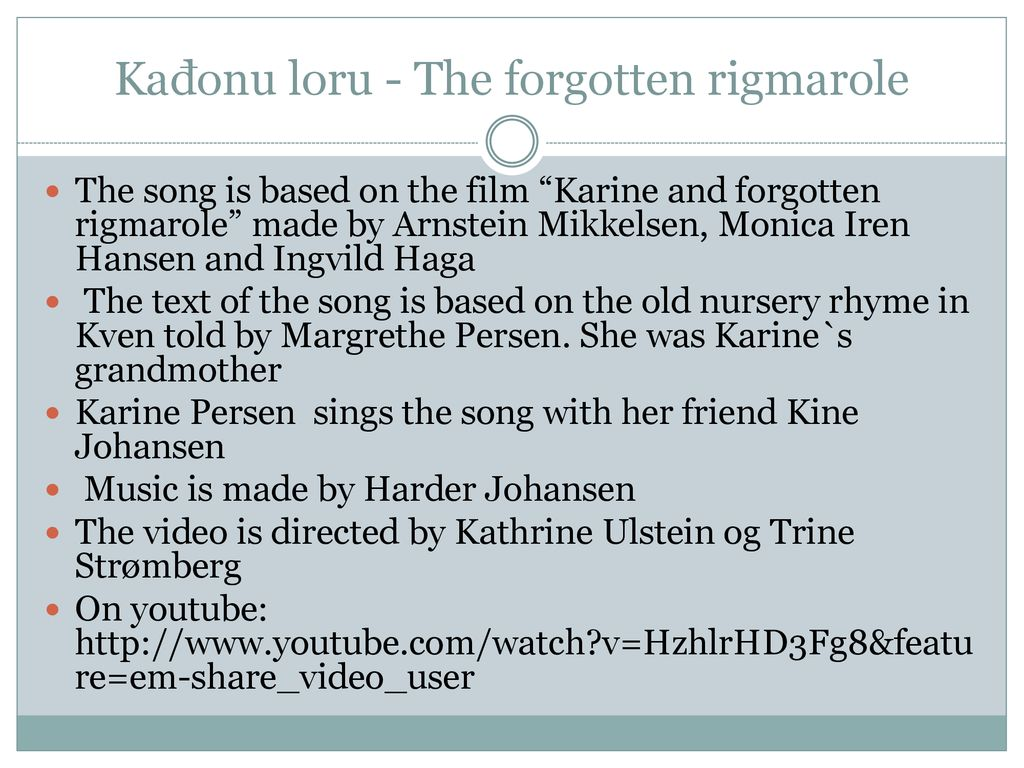 Traditional songs and plays of the Kvens in Norway - ppt