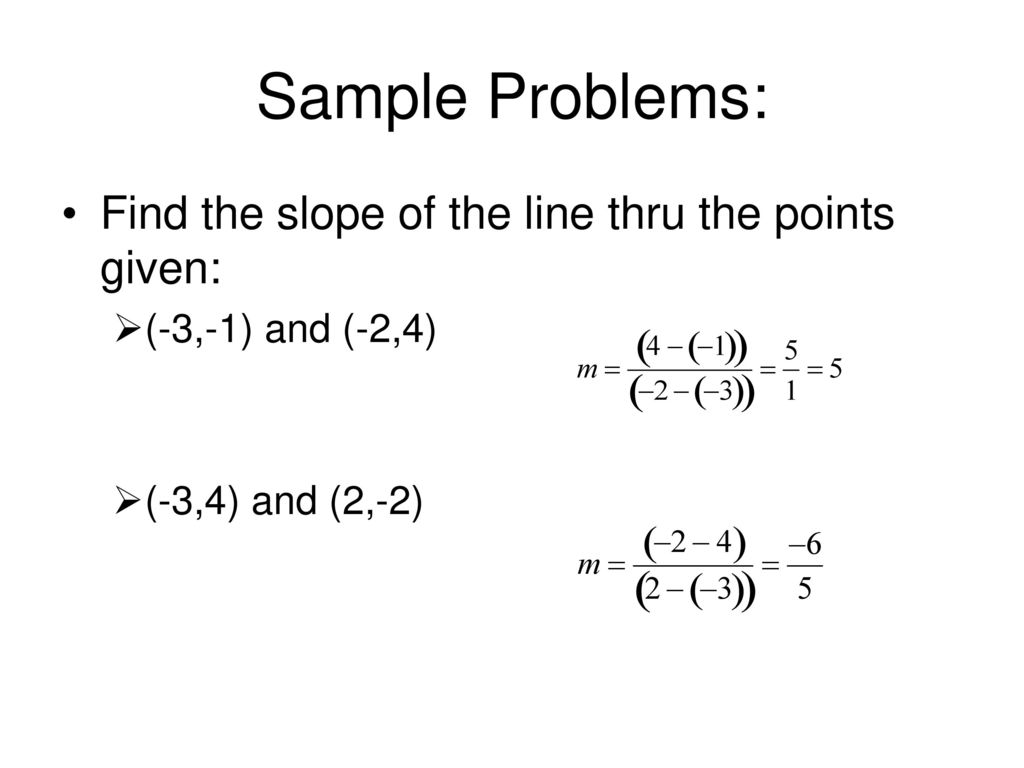 slope intercept form y-y1=m(x-x1)  Equations of Lines Point-slope form: y – y177 = m(x – x177 ...