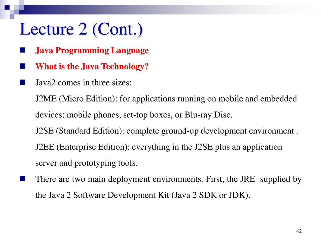 Java Programming Language - ppt download