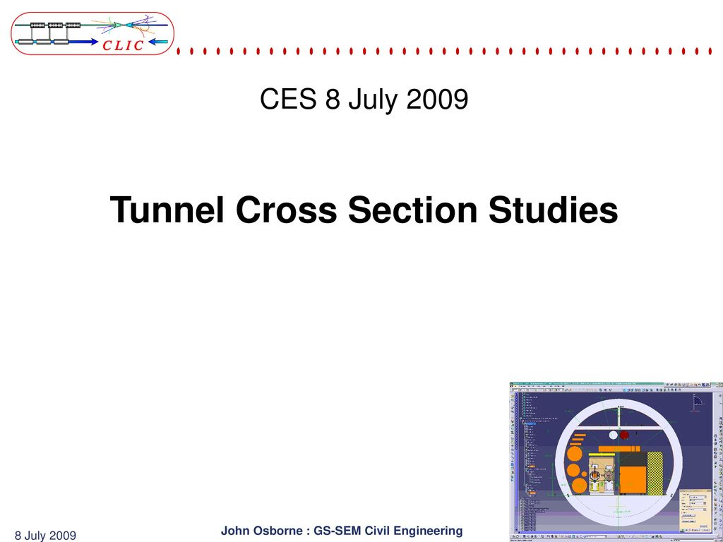 Tunnel Cross Section Studies Ppt Download