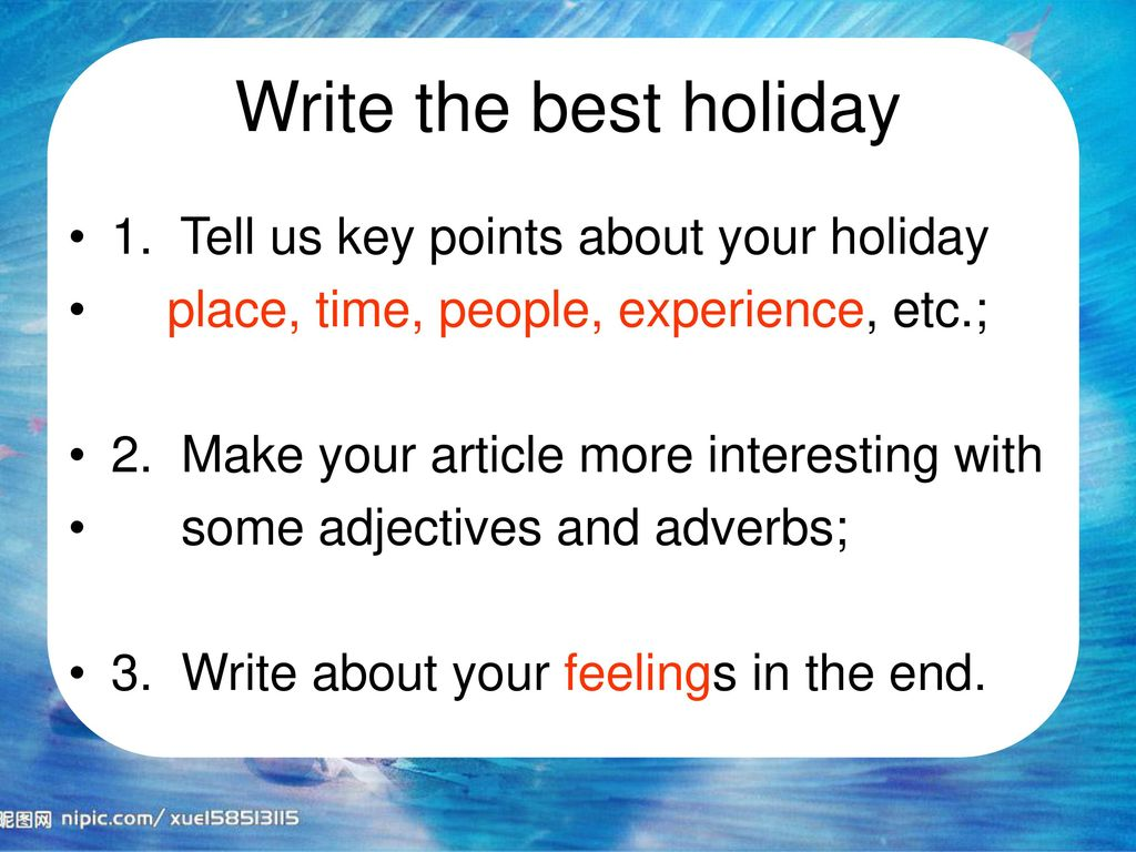 My best holiday by Ge Yujun  - ppt download