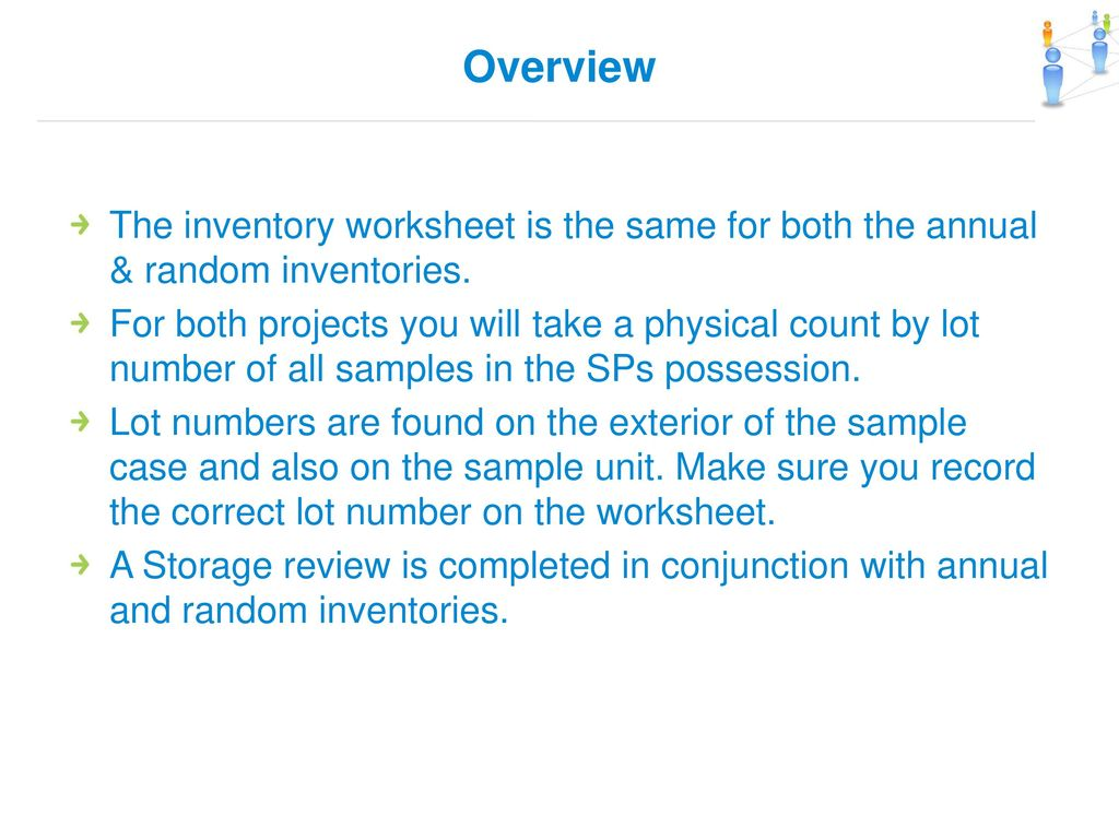field inventory services sanofi inventory and audit training ppt