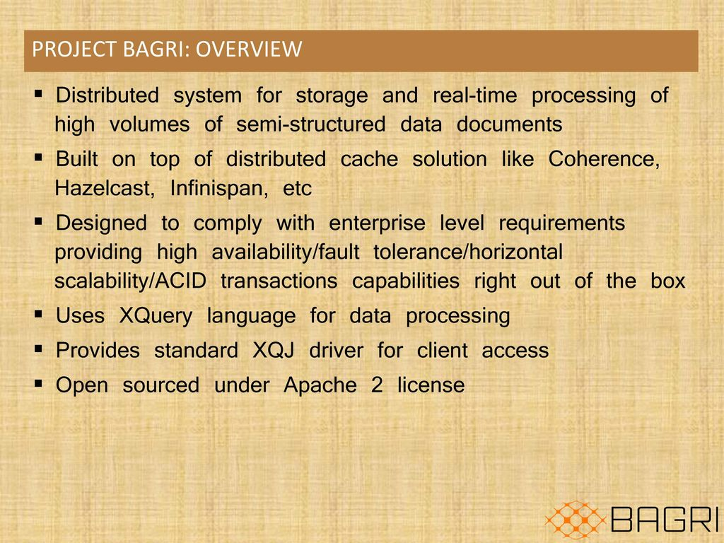 Open Source distributed document DB for an enterprise - ppt