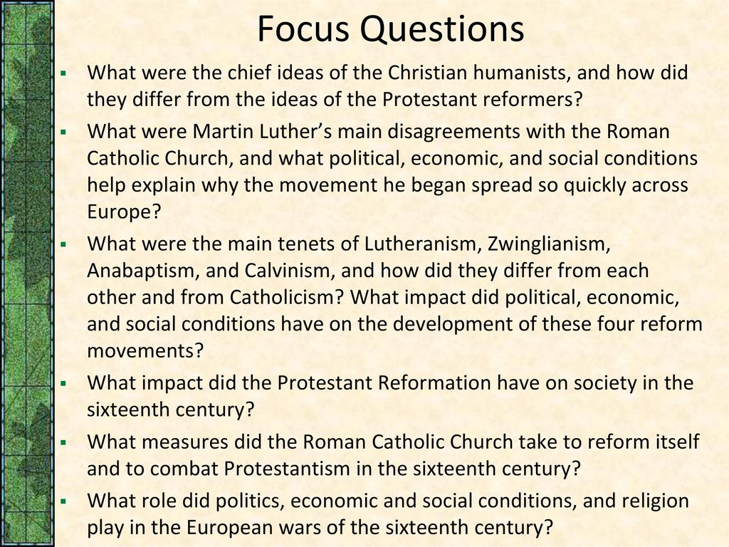 The main ideas of Christianity. Political and economic ideas of Christianity