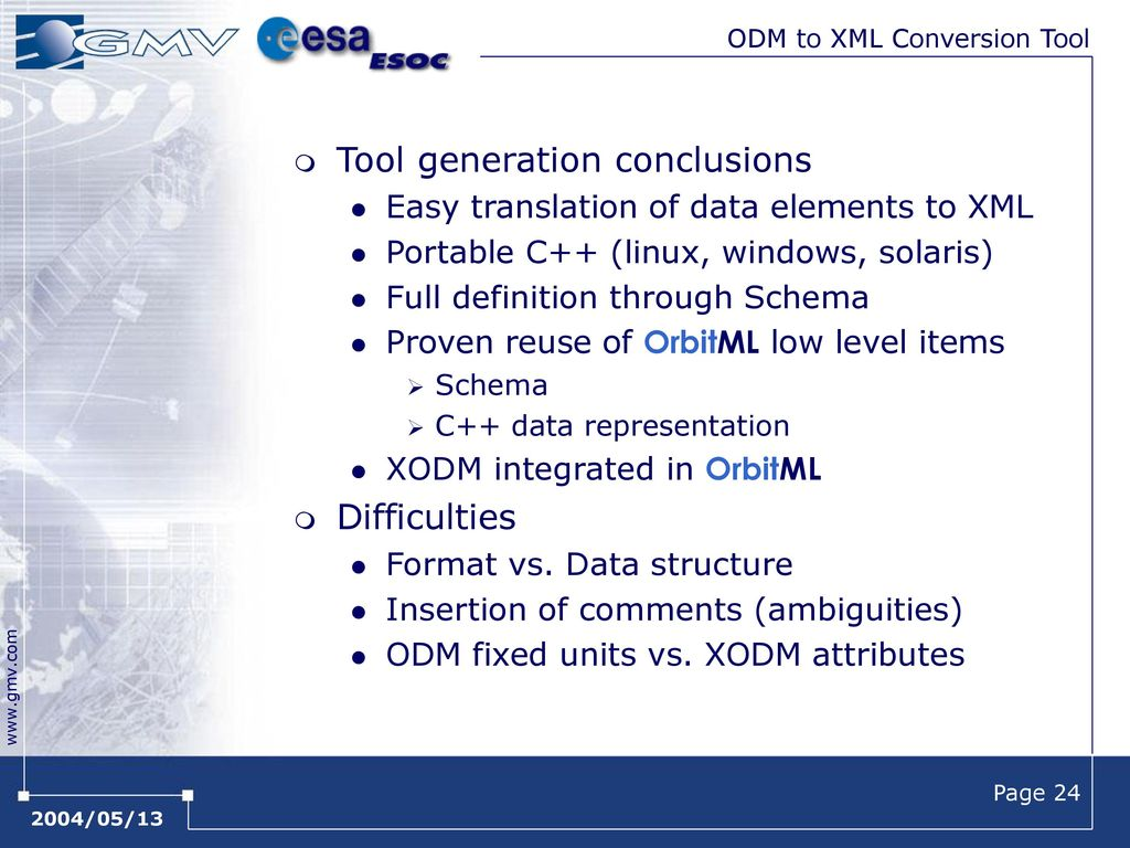 XML in CCSDS CCSDS Spring Meeting - Montreal - ppt download