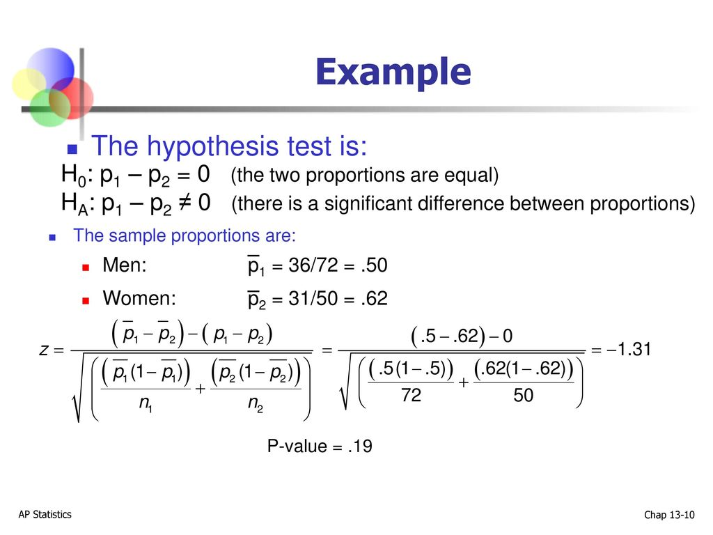 Comparing Two Proportions   ppt download