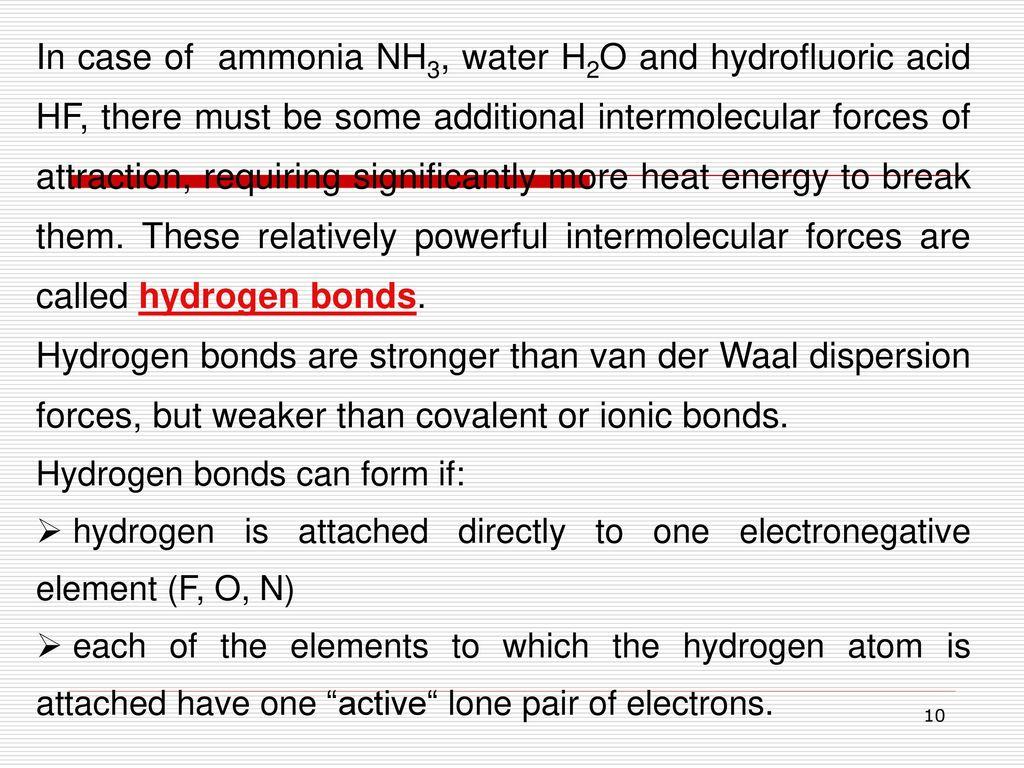 Weak chemical bonds – Intermolecular bonds - ppt download