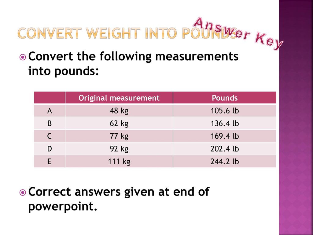 Height And Weight How To Measure Ppt