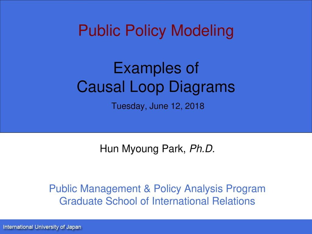 public policy modeling examples of causal loop diagrams tuesday, june 12,  2018