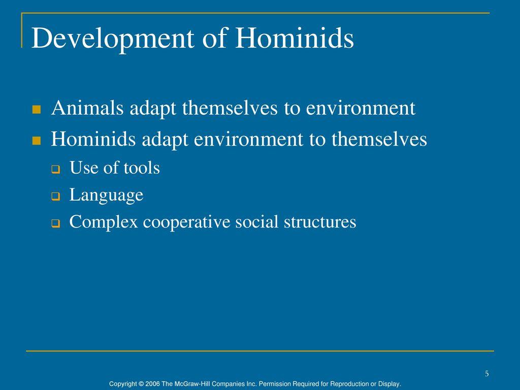 5 Development of Hominids