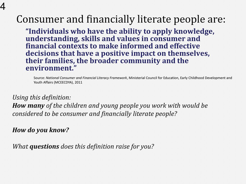 starting young: financial literacy in the 21st century - ppt download