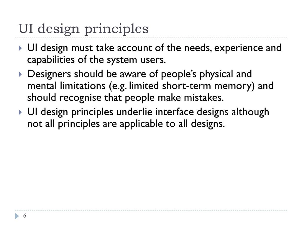 Chapter 7 User Interface Design Ppt Download