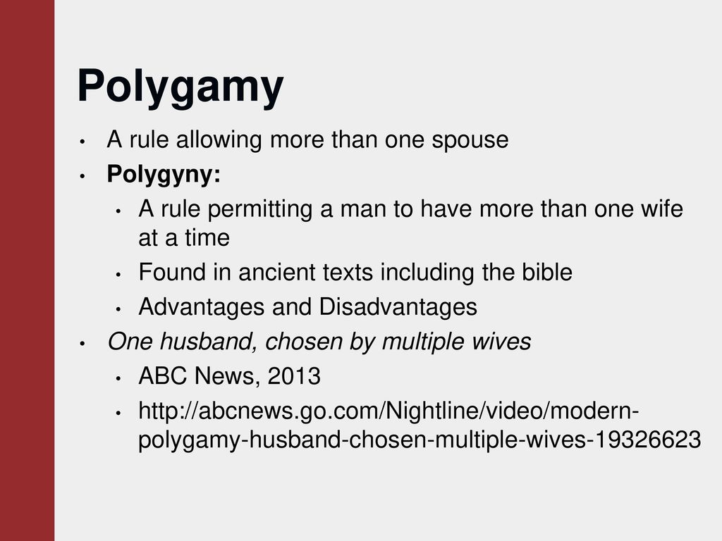 disadvantages of polygamy
