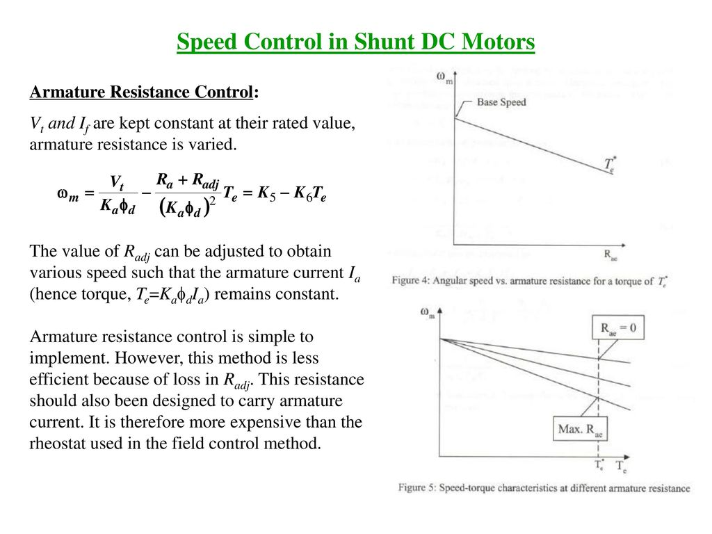 Shree Kankeshwaridevi Inst Of Techjamnagar Ppt Download Pwm Based Simple Dc Motor Controller Torque Is Lost Electronics Speed Control In Shunt Motors